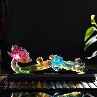 如意摆件创意结婚礼物琉璃工艺品家居酒柜中式装饰品商务礼品