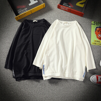 男士短袖T恤个性潮流学生韩版宽松风半袖上衣服五分中袖7七分袖