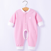 新生儿婴儿连体衣服外出抱衣纯棉6-12个月初生宝宝哈衣爬爬服春秋