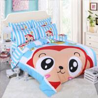 床上四件套纯棉全棉卡通可爱儿童1.5米1.8m2.0m床单双人被套床品