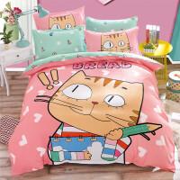 儿童卡通床上用品斜纹加厚磨毛被套四件套1.5m床1.8米双人床单