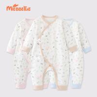 唛巴兔 新生儿衣服秋冬装0-3个月6初生男女宝宝爬爬服纯棉婴儿连体衣