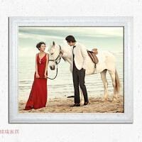 婚纱照全家福实木相框挂墙欧式大16 20 24 30 36 40寸裱照片制作