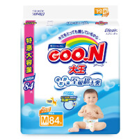 [当当自营]GOO.N 大王 维E系列婴幼儿用纸尿裤 尿不湿 环贴式纸尿裤 M84片(适合6-11kg)电商装