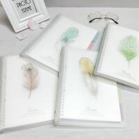 道林塑料活页笔记本 小清新梦羽活页本B5/26孔笔记本