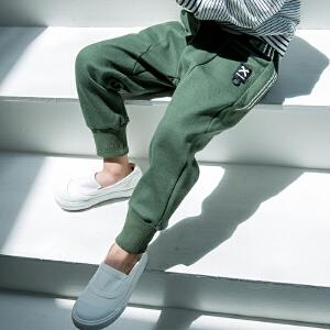 【尾品汇 129元3件】帕丁猫秋款中小童韩版休闲潮流洋气长裤