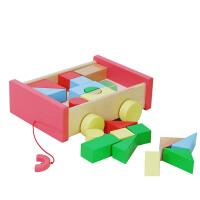 推车积木玩具1-2周岁宝宝积木1-3岁3岁以下积木玩具