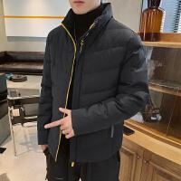 棉服男冬季保暖外套2019新款男学生时尚男装大码宽松帅气立领棉衣