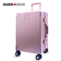 瑞士军刀铝框 SABER+GEAR 外置银色拉杆箱登机箱商务旅行箱