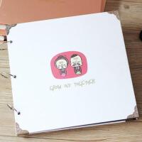 情人节520礼物创意纪念册 16寸韩版手工粘贴式DIY相册本自制影集