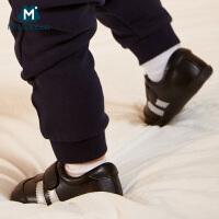 【满200减130】迷你巴拉巴拉婴儿春新款男女宝宝儿童鞋子休闲鞋运动鞋羊皮鞋