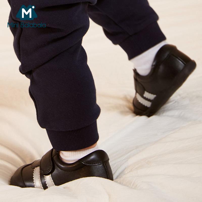 【限时2件3折价:72】迷你巴拉巴拉婴儿春新款男女宝宝儿童鞋子休闲鞋运动鞋羊皮鞋