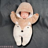 冬季新生婴儿衣服秋冬装加厚宝宝连体衣初生冬季棉衣外出抱衣套装网红秋冬新款