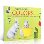英文原版 White Rabbit's Colors colour book 白兔的颜色 新版 吴敏兰 -4-5-6岁
