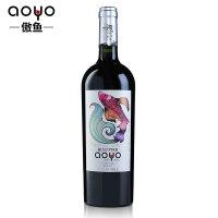 傲鱼AOYO智利原瓶进口红酒 鱼王精酿梅洛干红葡萄酒2018年750ml*1