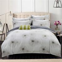 加厚全棉磨毛四件套秋冬季双人2.0m纯棉床单被套1.8m床上用品