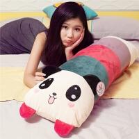 单人枕头毛绒玩具熊猫抱枕靠垫午睡枕可拆洗学生情侣礼物