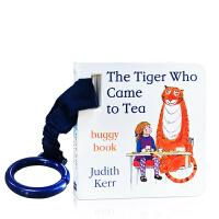 英文原版 The Tiger Who Came to Tea 老虎来喝下午茶 儿童迷你纸板书 童车挂书 幼儿启蒙图画故事书0-3-6岁 名家Judith Kerr