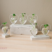 花瓶摆件创意客厅办公桌面装饰餐桌容器迷你小花艺透明水培玻璃瓶 一套(单+双+)