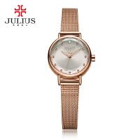 聚利时(Julius)时尚简约小巧钢带手链表女士石英手表 女表学生表时尚腕表JA-942