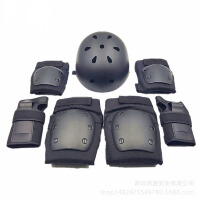 儿童护膝护肘套装 儿童轮滑护具套装平衡车扭扭车 护具7件套溜冰护具
