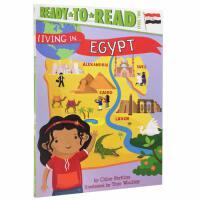 【全店300减100】英文原版 Living in Egypt 生活在埃及 Level 2 Ready-to-Read