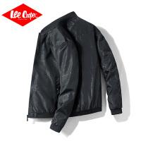 Lee Cooper休闲舒适简约夹克青年印花潮流棒球服男士外套