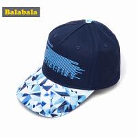 巴拉巴拉男童休闲帽子儿童春装2018新款中大童鸭舌帽潮韩版棒球帽