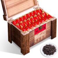 乌龙茶岩韵大红袍浓香型肉桂茶叶木质礼盒装