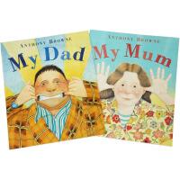 英文原版 大开平装 绘本 My Mum My Dad Anthony Browne 我的爸爸妈妈 安东尼布朗幼儿英语启
