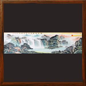 2.4米《日出祥云照叶茂水长流》许宏盛-中国国画家协会理事,甘肃美协会员R2544