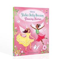 贴纸多莉穿衣服跳舞的仙女 Sticker Dolly Dressing Dancing Fairies英文原版贴纸书 3