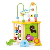 婴幼儿童积木绕珠玩具宝宝力男孩形状认知1-2-3周岁早教女孩