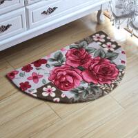 半圆地垫客厅地毯卧室床边茶几毯脚垫家用卫浴门厅入户门进门地垫
