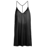 流经岁月 仿真丝睡衣收腰诱惑短裙女性感情趣吊带睡裙女工字裙