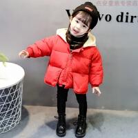 新款0女宝宝羽绒小女孩1女童装洋气棉袄2儿童冬装棉衣外套3岁
