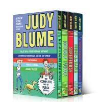 英文原版青少年小说 Judy Blume's Fudge Set 朱迪布鲁姆幽默成长系列5册盒装全套全集 儿童读物章节