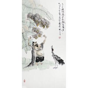 陕西省美术家协会会员周弘光 《青山吐纳图》 49*100cm