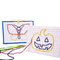 儿童玩具手眼协调穿线彩色立体串绳拼图早教益智玩具