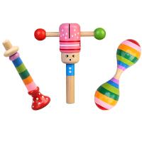 木质婴儿玩具0-1岁幼儿手摇铃0-3-6-12个月男孩女孩宝宝