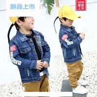 男童春装外套2018新款韩版牛仔上衣男宝宝潮流开衫2-3-4-5-6周岁