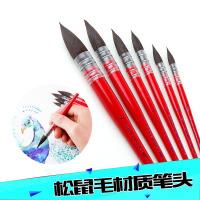 阿尔瓦罗进口(NEEF)红胖子松鼠毛水彩笔NEEF117水彩画笔刷子板刷