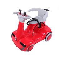 儿童电动摩托车瓦力碰碰车双驱四轮遥控摇摆玩具宝宝早教车 红色/双驱/遥控/自驾/摇摆/早教 手推把+安全带