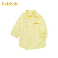 巴拉巴拉童装女童短袖衬衫儿童衬衣2021新款夏装中大童洋气韩版