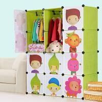 蜗家 宝宝衣柜儿童收纳柜婴儿储物柜整理塑料卡通组装衣物收纳箱M120802
