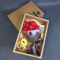 香皂花玫瑰礼盒 情人节礼物实用玫瑰香皂花礼盒创意送老婆闺蜜生日礼物女520礼物母节礼物