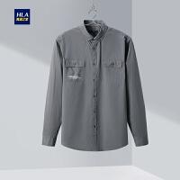HLA/海澜之家工装休闲长袖衬衫2020春季新品时尚舒适长衬男