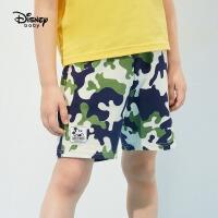 【2件2.4折价:33.3元】迪士尼男童裤子夏2021年新款儿童短裤运动裤潮牌童装薄款帅气时髦