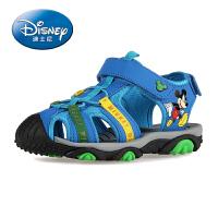 【119元任选2双】迪士尼儿童鞋 男童鞋儿童凉鞋夏季新款沙滩鞋真皮大童鞋包头