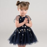 davebella戴维贝拉夏装女童连衣裙 宝宝夜空繁星公主裙DBJ6962